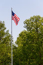 US Flag on Tall Flag Pole Royalty Free Stock Photos