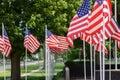 US Flags Wave At War Memorial ...