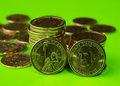 US government just issued the new presidential dollar coins Royalty Free Stock Photo