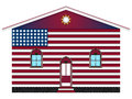 Us house flag painted over white background abstract vector art illustration image contains transparency Royalty Free Stock Photos
