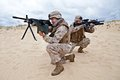 US marines in action Royalty Free Stock Photo