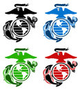 Us marines emblem vector of four color Stock Photos