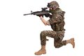 Us marines with rifle isolated Royalty Free Stock Photography