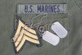 Us marines uniform Royalty Free Stock Photo