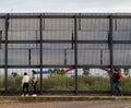 US Mexico Border Wall Royalty Free Stock Photo