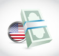 Us money bills illustration design over a white background Stock Photography