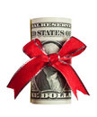 US money gift Royalty Free Stock Image