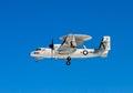 US navy aircraft in flight Royalty Free Stock Photo