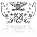 US Navy Insignia with Ribbons Royalty Free Stock Photography