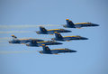 US Navy's Blue Angels aerobatic team Royalty Free Stock Photo