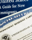 US new resident documents Stock Photos