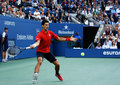 Us open finalist novak djokovic during his final match against champion rafael nadal flushing ny september at billie jean king Royalty Free Stock Photo