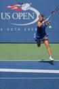 Us open girls junior finalist anhelina kalinina from ukraine during final match at the billie jean king national tenniscenter new Stock Image
