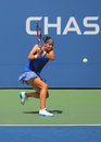 Us open girls junior finalist anhelina kalinina from ukraine during final match at the billie jean king national tenniscenter new Royalty Free Stock Image