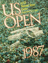 Us open poster on display at the billie jean king national tennis center new york august august in new york Royalty Free Stock Photos