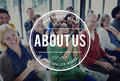 About Us Page Information Story Brand Concept Royalty Free Stock Photo