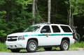 Us park ranger car in arcadia national park in bar harbor maine july on july service rangers are the Royalty Free Stock Photography