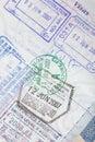 US Passport Visas Stamps Royalty Free Stock Photo