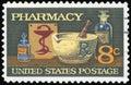 US Postage stamp Royalty Free Stock Photo