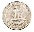 Us quarter dollar coin Royalty Free Stock Photo