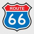 US route 66 sign Royalty Free Stock Photo