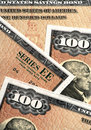 US Savings Bonds Closeup Royalty Free Stock Photo
