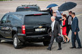 US Secretary of Defense James Mattis arrived in Kyiv Royalty Free Stock Photo