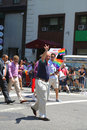 Us senator chuck shumer participates at lgbt pride parade in new york june on june Royalty Free Stock Photos