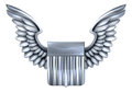 US Silver Shield with Wings Royalty Free Stock Photo
