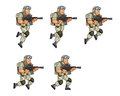 US Soldier Jumping Sprite