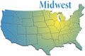 US states Regional MidWest map