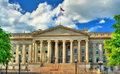 US Treasury Department building in Washington, DC Royalty Free Stock Photo