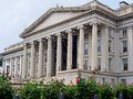 Us treasury department classical architecture building Royalty Free Stock Photos