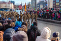US troops at Estonia Independence Day parade Royalty Free Stock Photo