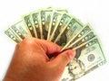 US Twenty Dollar Bills & Hand Stock Photography