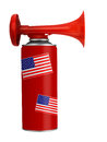 US, USA air horn - football, soccer etc, isolated Royalty Free Stock Photo