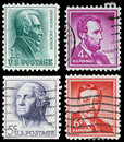 Vintage US postage stamps Royalty Free Stock Photo