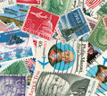 US vintage postmarks Royalty Free Stock Photo