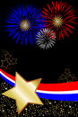 USA 4th July Fireworks Poster Royalty Free Stock Photo