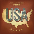 USA abstract retro poster design Stock Photography