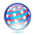 USA America shiny button flag Royalty Free Stock Photography