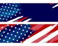 USA or american flag paintbrush on white background vector illustration Royalty Free Stock Photo