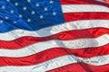Usa American flag with visa passport stamp Royalty Free Stock Photo