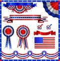 USA american patriotic elements Stock Photos