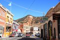 Usa arizona bisbee historic bisbee main street of the county seat of cochise county is located mi km southeast of tucson it was Stock Photos