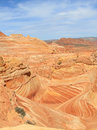 Usa arizona coyote buttes the wave with trail landscape is an attraction in area of paria canyon vermillion cliffs wilderness on Royalty Free Stock Photography