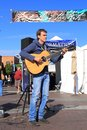 Usa arizona john calvert guitar player was an entertainer at the festival of the arts in tempe dec q https www arcadiusmedia com Royalty Free Stock Photos
