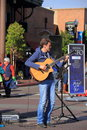 Usa arizona john calvert guitar player was an entertainer at the festival of the arts in tempe dec q https www arcadiusmedia com Stock Image