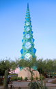 USA, Arizona/Phoenix: Architecture - F. Lloyd Wright Spire/Illuminated Royalty Free Stock Photo