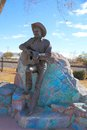 Usa arizona willcox rex allen statue this of elvie – an american film actor singer and songwriter adorns the historic railroad Royalty Free Stock Photo
